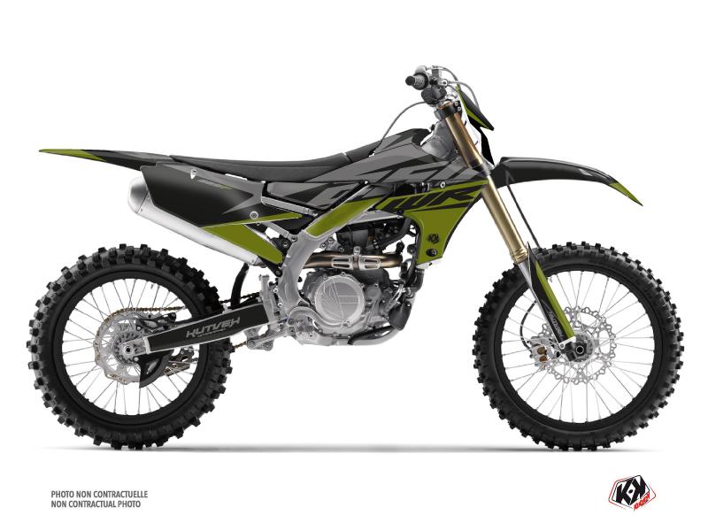 Yamaha 250 WRF Dirt Bike Skew Graphic Kit Kaki