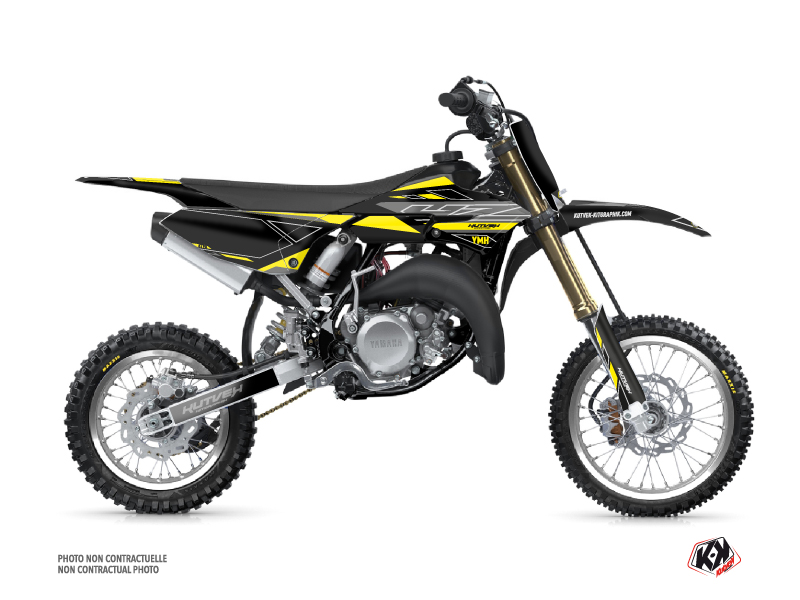 Yamaha 65 YZ Dirt Bike Outline Graphic Kit Yellow