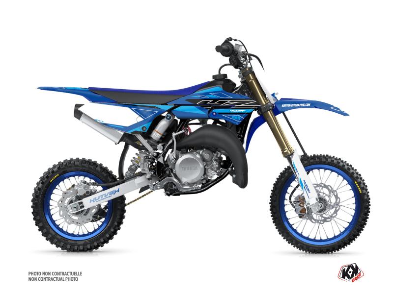Yamaha 65 YZ Dirt Bike Outline Graphic Kit Cyan