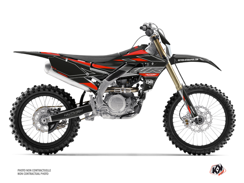 Kit Déco Moto Cross Outline Yamaha 450 WRF Rouge