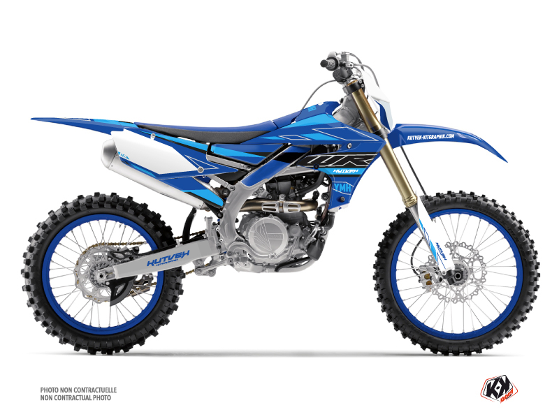 Kit Déco Moto Cross Outline Yamaha 450 WRF Cyan