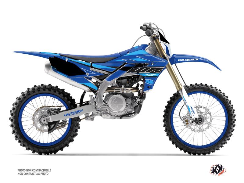 Yamaha 250 WRF Dirt Bike Outline Graphic Kit Cyan