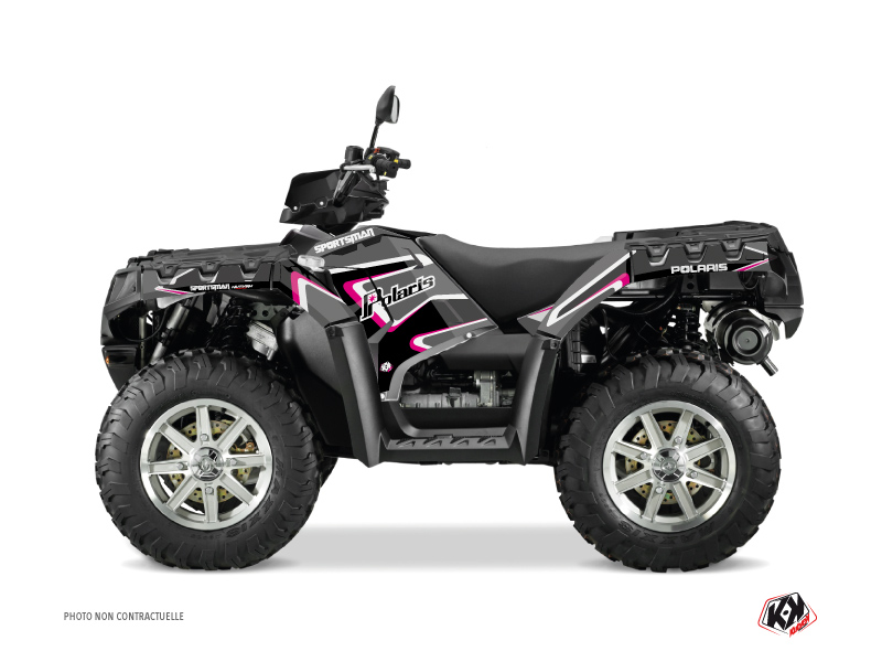 Polaris 550 Sportsman Forest ATV Vintage Graphic Kit Black Pink