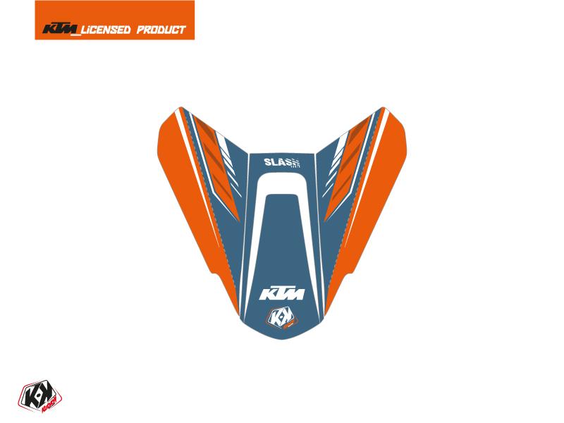 Kit Déco Capot de Selle Moto Slash KTM Orange Bleu