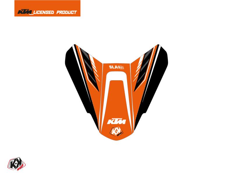 Kit Déco Capot de Selle Moto Slash KTM Orange Noir