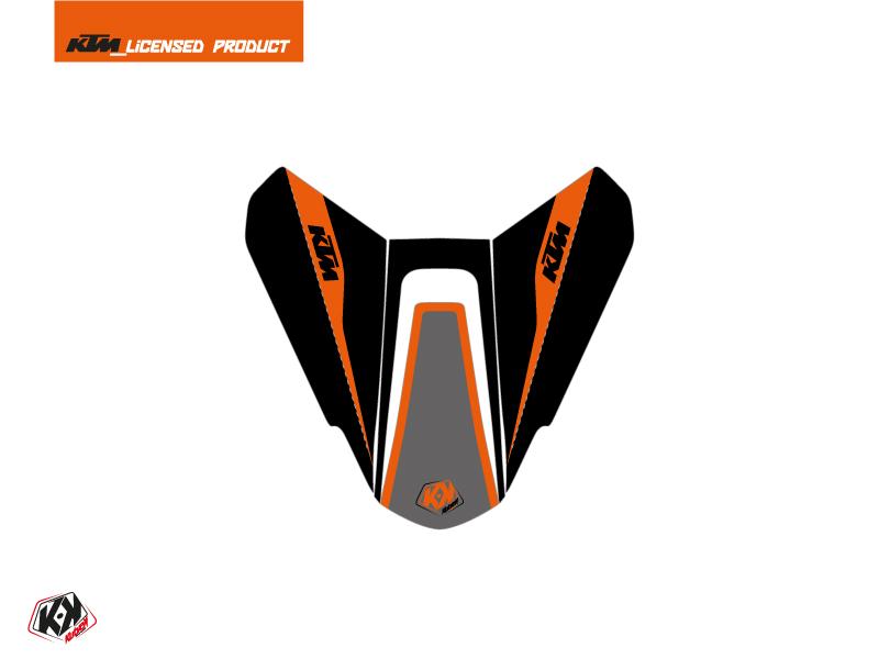 Kit Déco Capot de Selle Moto Storm KTM Noir Orange