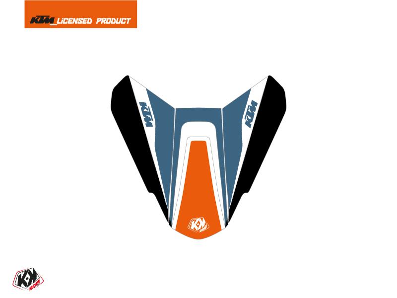 Kit Déco Capot de Selle Moto Storm KTM Orange Bleu