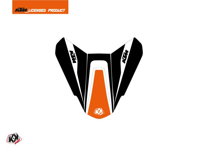 Kit Déco Capot de Selle Moto Storm KTM Orange Noir