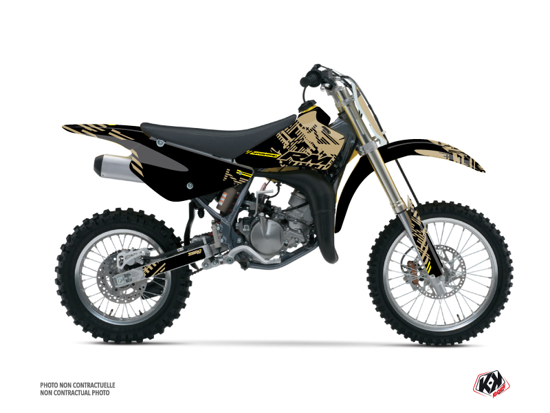 Suzuki 85 RM Dirt Bike Zero Graphic Kit Sand