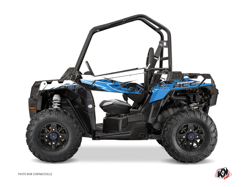 Polaris ACE 325-570-900 UTV Action Graphic Kit Blue