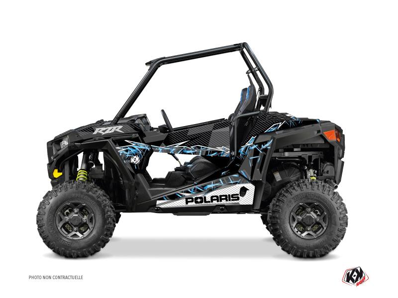 Polaris RZR 900 UTV Action Graphic Kit Black Blue