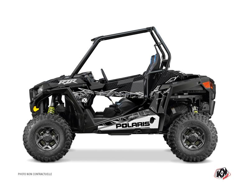 Polaris RZR 900 UTV Action Graphic Kit Black Grey