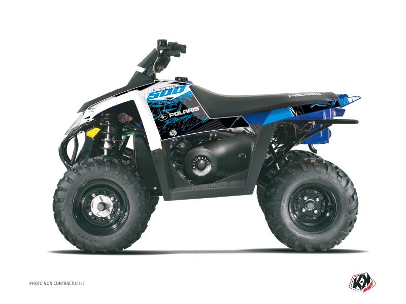 Polaris Scrambler 500 ATV Action Graphic Kit Blue