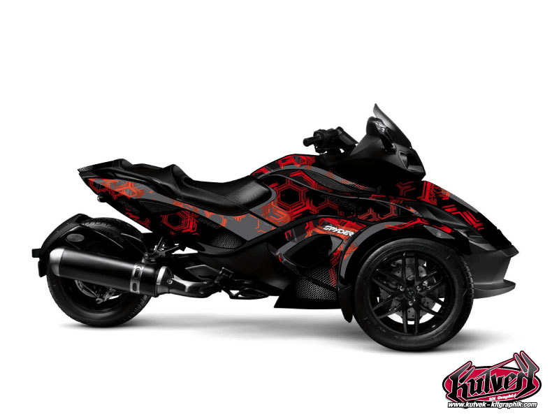 Can Am Spyder RS Roadster Aero Graphic Kit Black