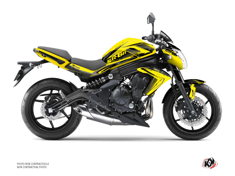 Kawasaki ER 6N Street Bike Airline Graphic Kit Yellow