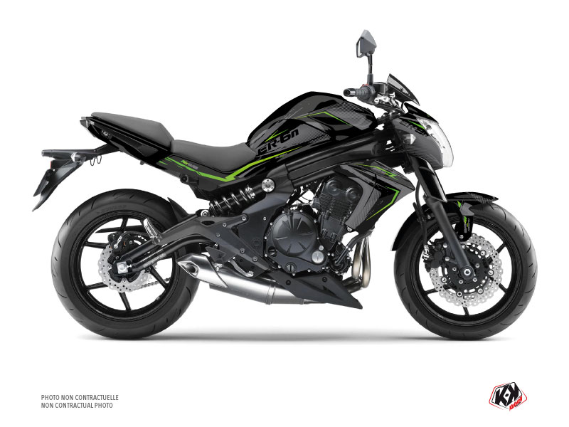 Kawasaki ER 6N Street Bike Airline Graphic Kit Black Green