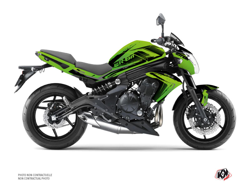 Kawasaki ER 6N Street Bike Airline Graphic Kit Green