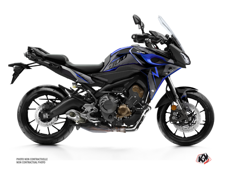 Yamaha TRACER 900 Street Bike Airline Graphic Kit Black Blue