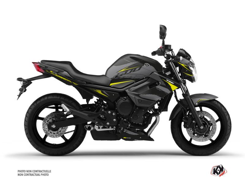 Yamaha XJ6 Street Bike Airline Graphic Kit Black Yellow