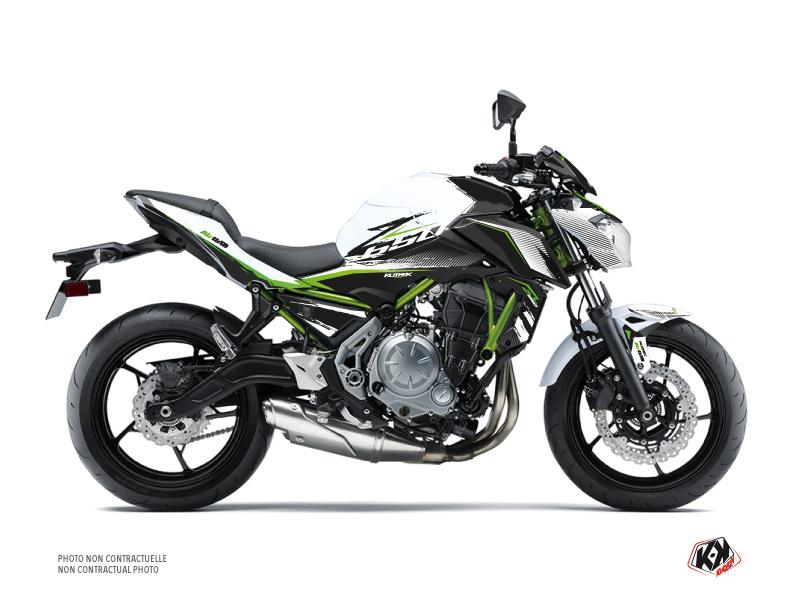 Kit Déco Moto Airline Kawasaki Z 650 Blanc Vert