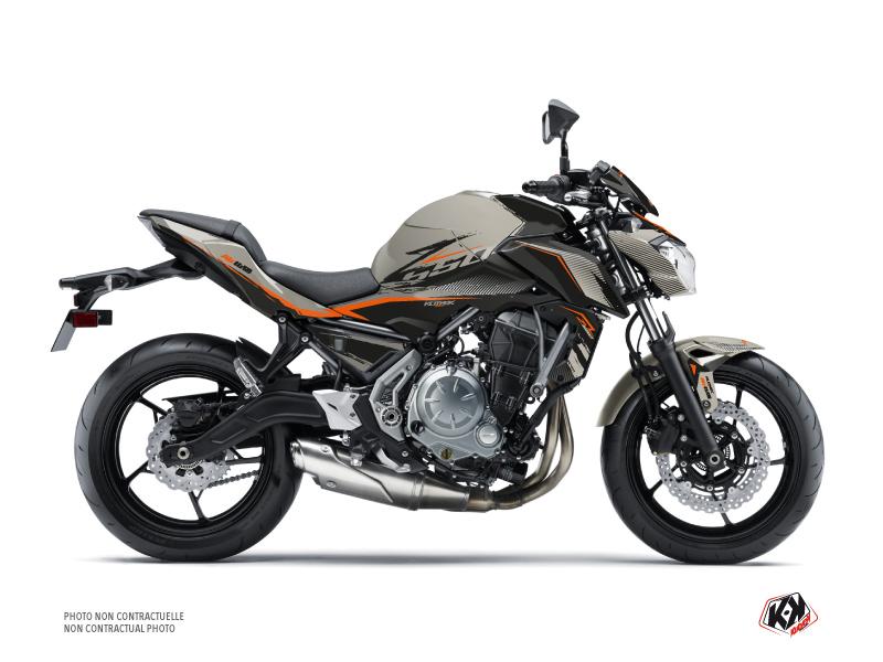 Kit Déco Moto Airline Kawasaki Z 650 Noir Gris