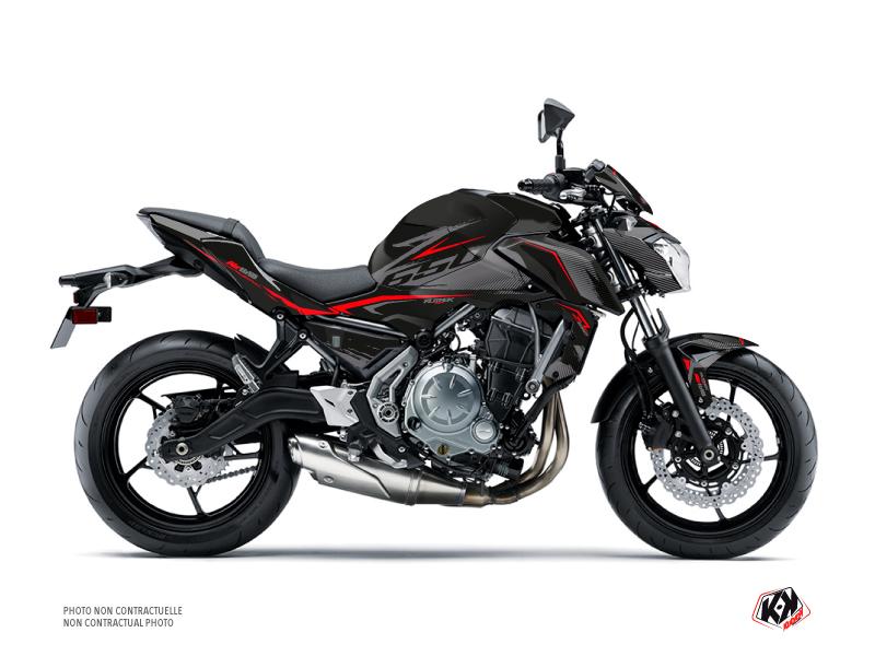 Kit Déco Moto Airline Kawasaki Z 650 Noir Rouge
