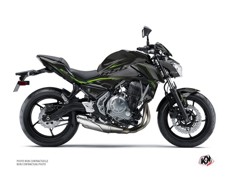 Kit Déco Moto Airline Kawasaki Z 650 Noir Vert
