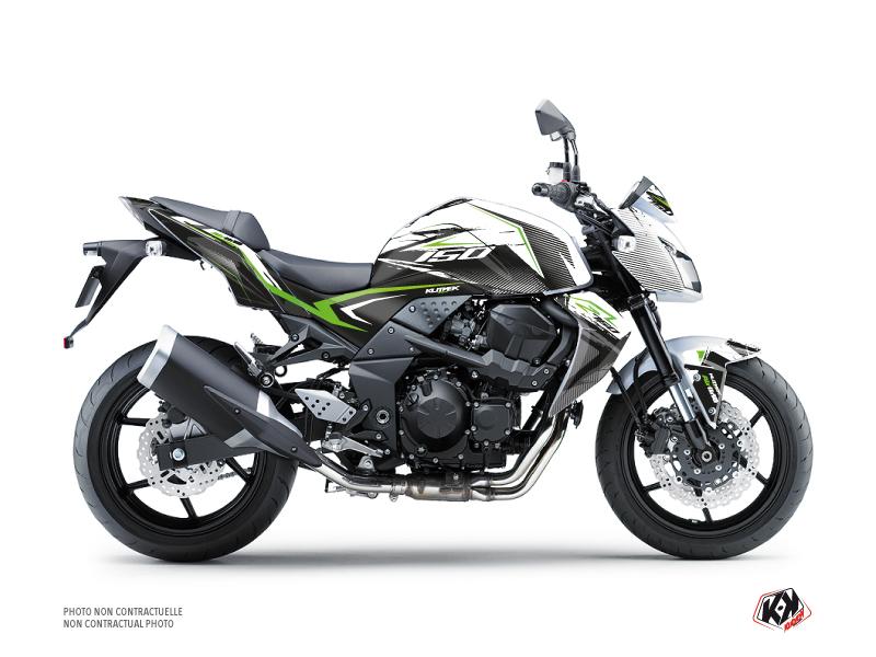 Kit Déco Moto Airline Kawasaki Z 750 Blanc Vert