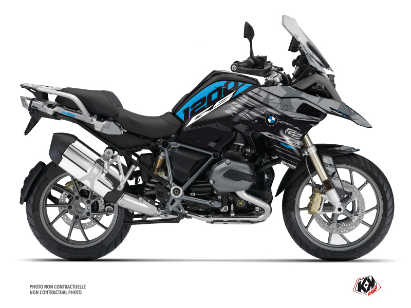 BMW R 1200 GS Exclusive Street Bike Akte Graphic Kit Blue
