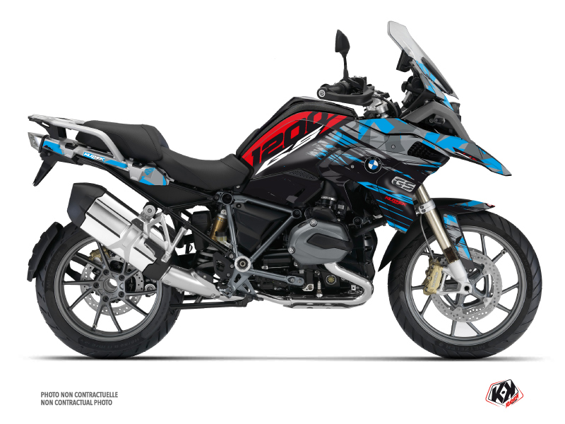 BMW R 1200 GS Exclusive Street Bike Akte Graphic Kit Blue Red