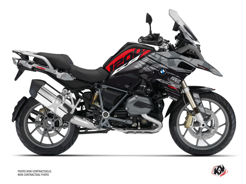 BMW R 1200 GS Exclusive Street Bike Akte Graphic Kit Red