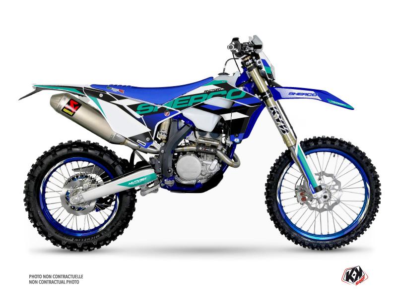 Sherco SE / SEF Dirt Bike Aktiv Graphic Kit Turquoise