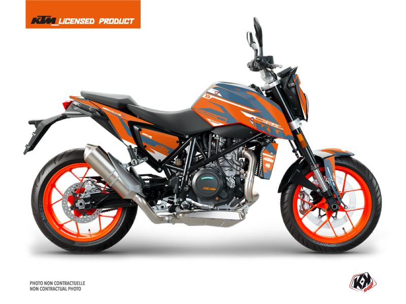 KTM Duke 690 R Street Bike Arkade Graphic Kit Orange Blue