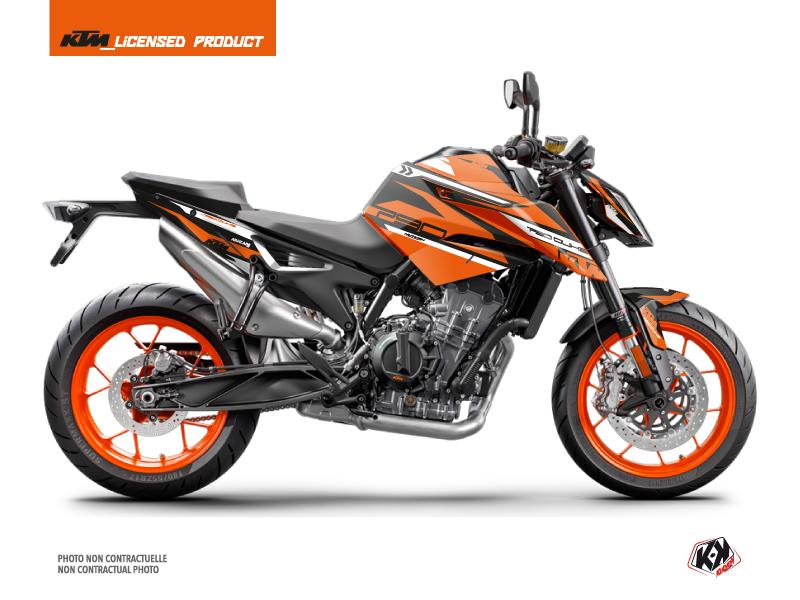 KTM Duke 790 Street Bike Arkade Graphic Kit Black Orange