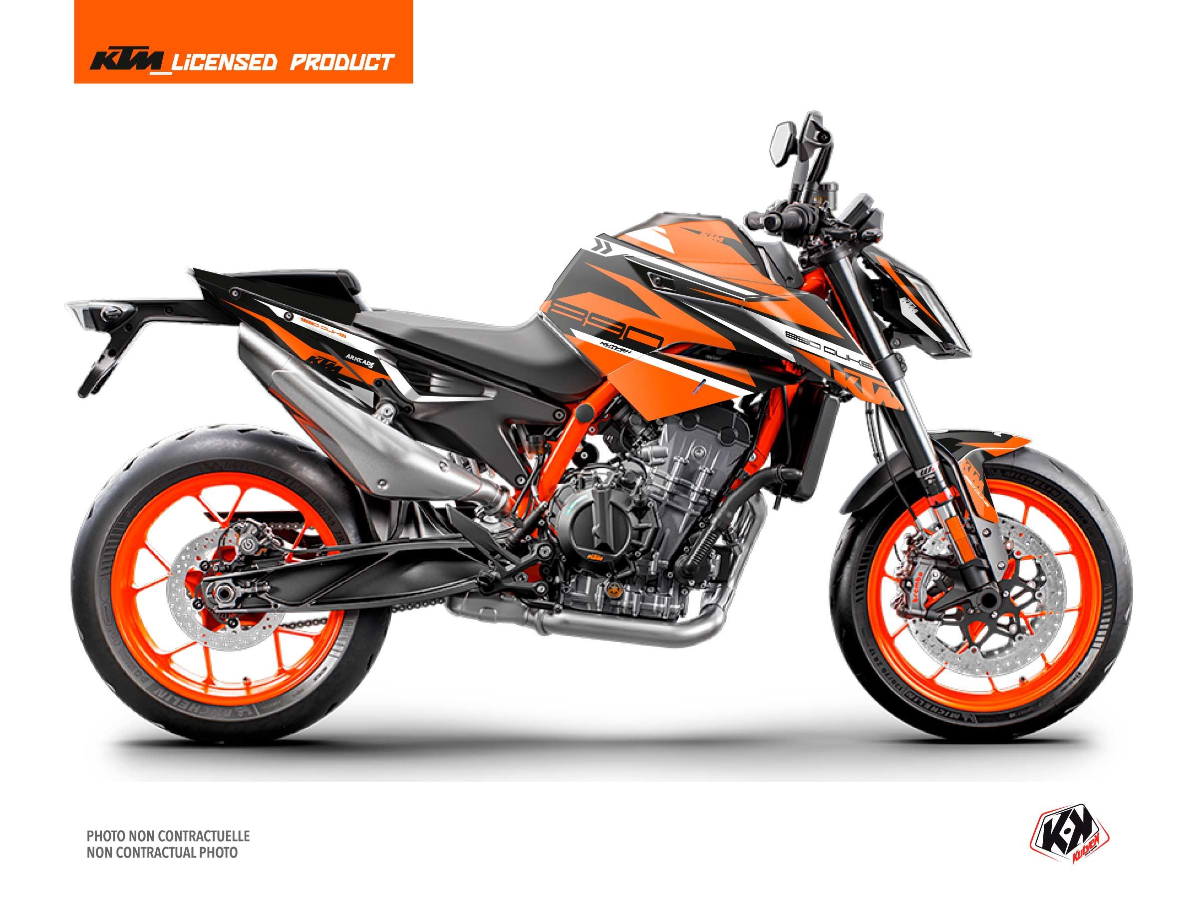 KTM Duke 890 Street Bike Arkade Graphic Kit Black Orange