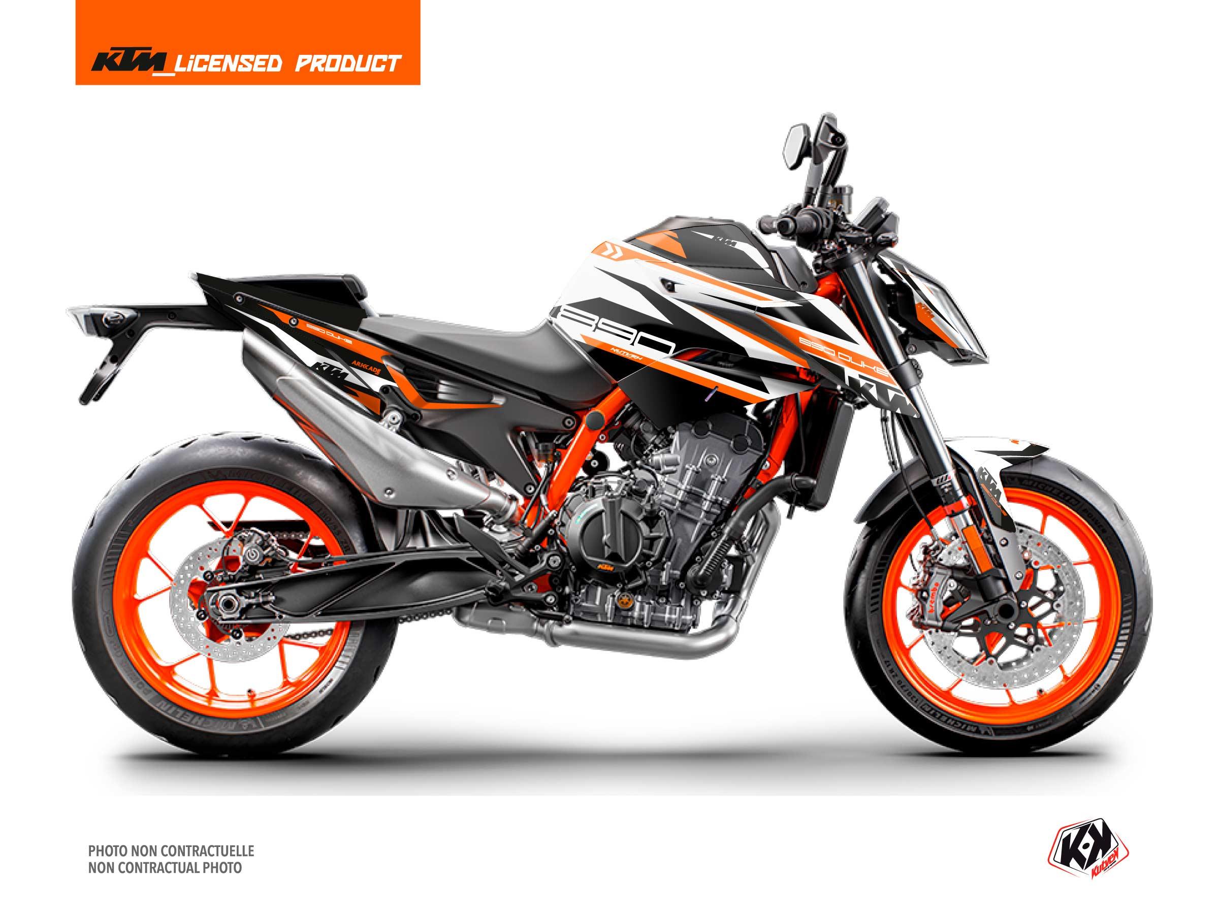 KTM Duke 890 Street Bike Arkade Graphic Kit Orange White