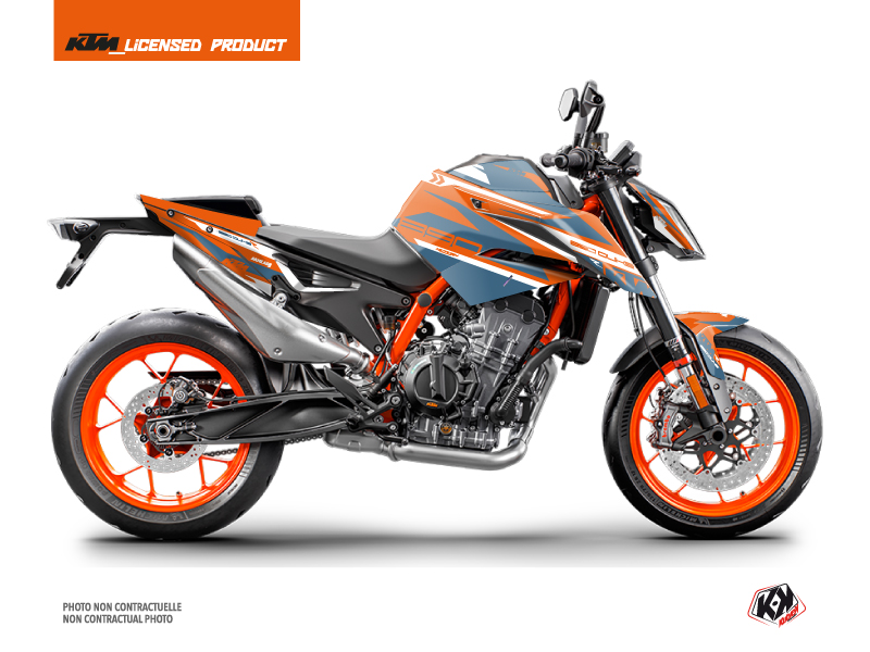 KTM Duke 890 R Street Bike Arkade Graphic Kit Orange Blue
