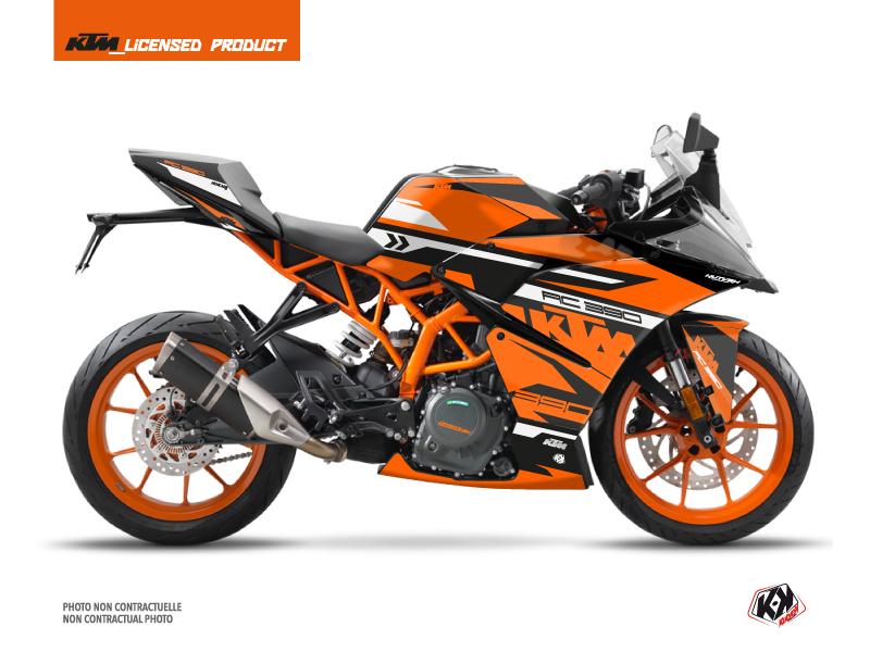 Kit Déco Moto Arkade KTM 390 RC Noir Orange