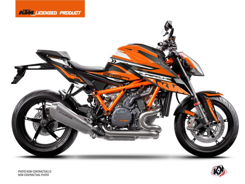KTM Super Duke 1290 R Street Bike Arkade Graphic Kit Black Orange