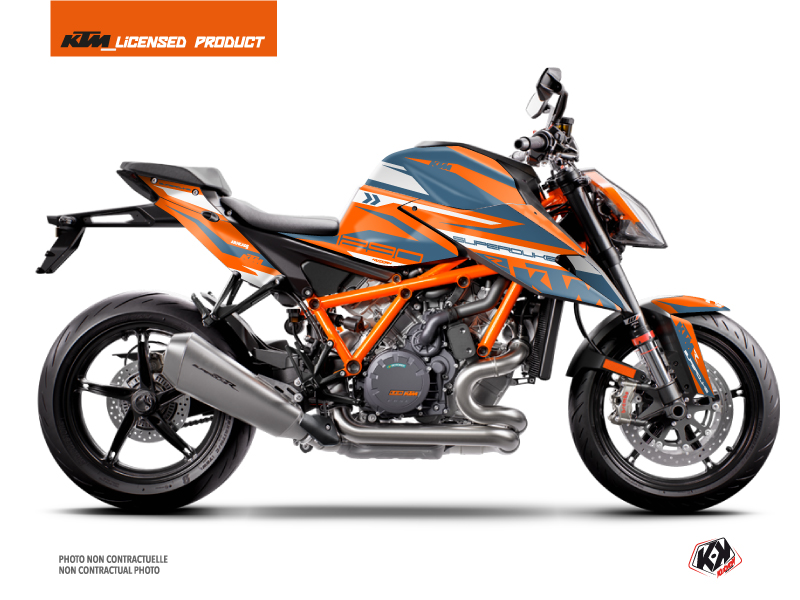 Kit Déco Moto Arkade KTM Super Duke 1290 R Orange Bleu