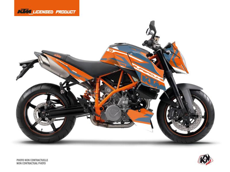 KTM Super Duke 990 Street Bike Arkade Graphic Kit Orange Blue