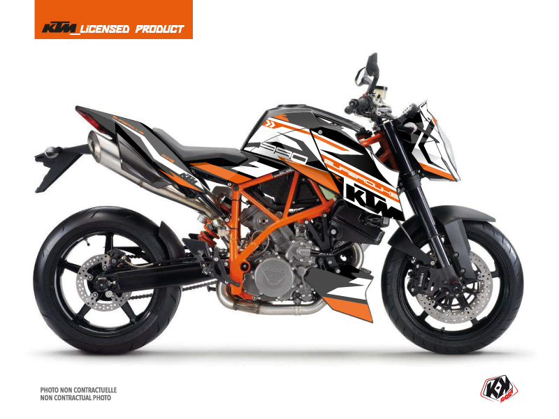 Kit Déco Moto Arkade KTM Super Duke 990 R Orange Blanc