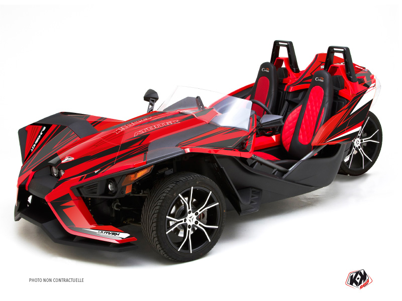 Polaris Slingshot Roadster Atomik Graphic Kit Red
