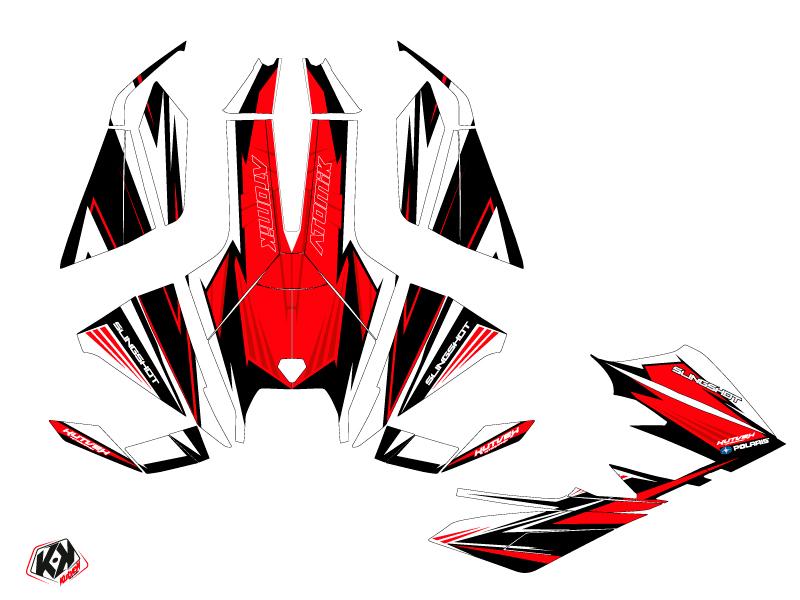 Polaris Slingshot Roadster Atomik Graphic Kit Red White