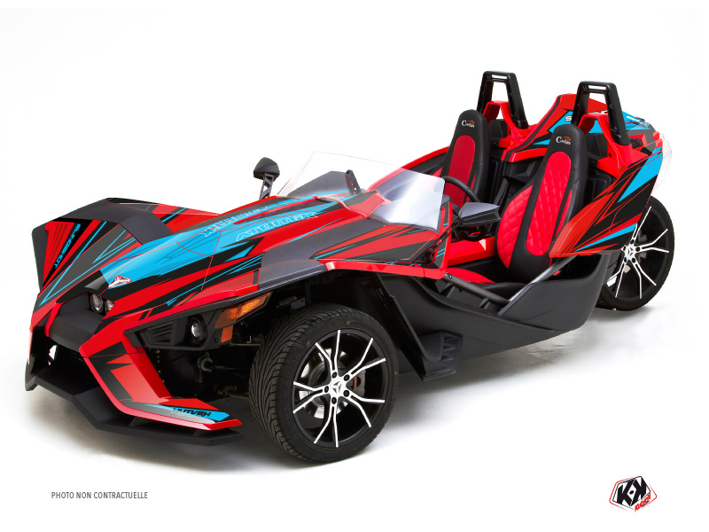 Polaris Slingshot Roadster Atomik Graphic Kit Red Blue