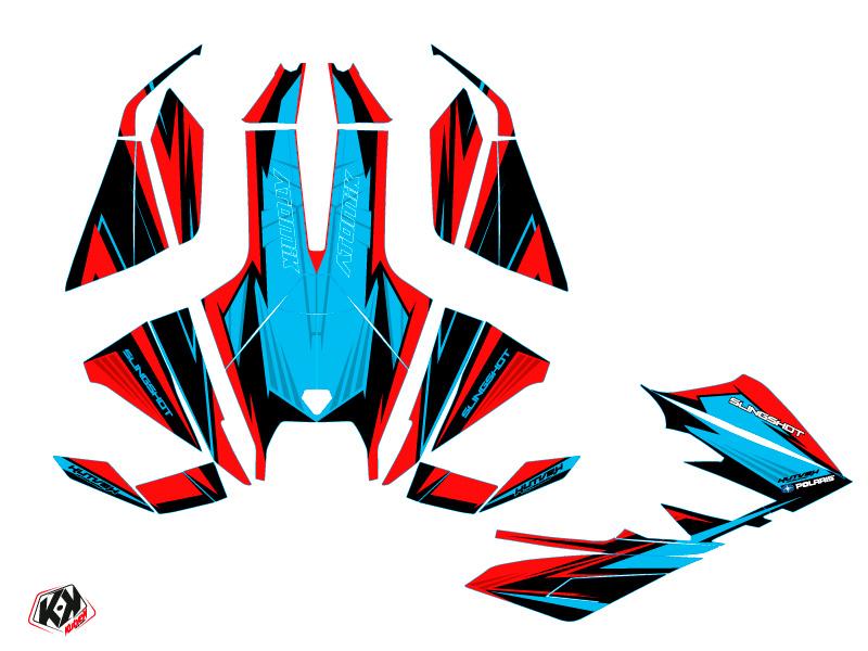Polaris Slingshot Roadster Atomik Graphic Kit Red Blue