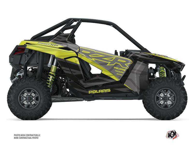 Polaris RZR PRO XP UTV Baja Graphic Kit Black Neon Green