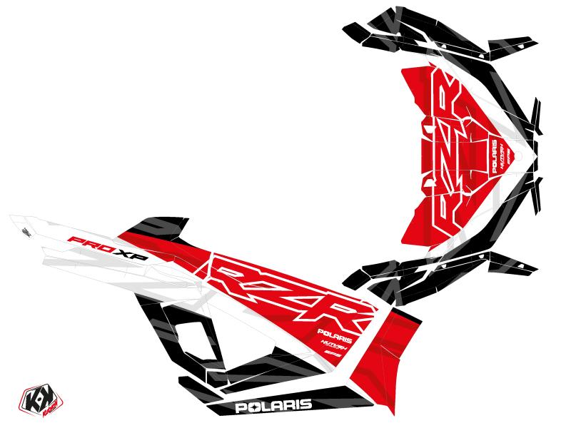 Polaris RZR PRO XP UTV Baja Graphic Kit Red