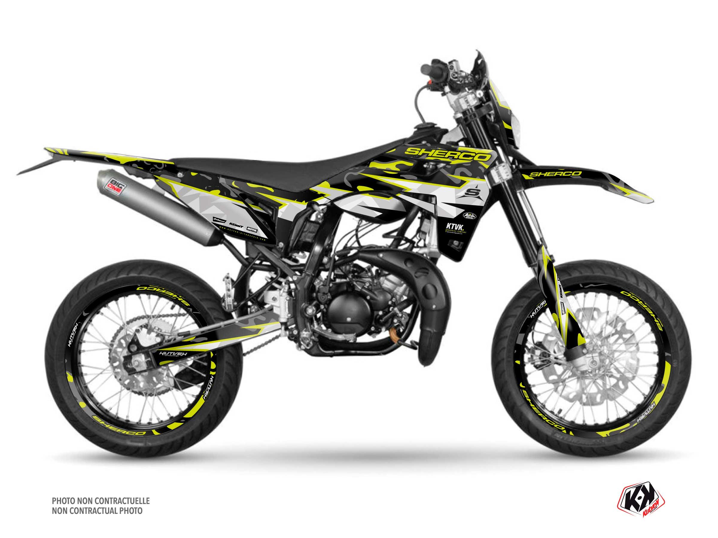 Sherco SM 50 50cc BARBARIAN Graphic Kit Yellow Neon