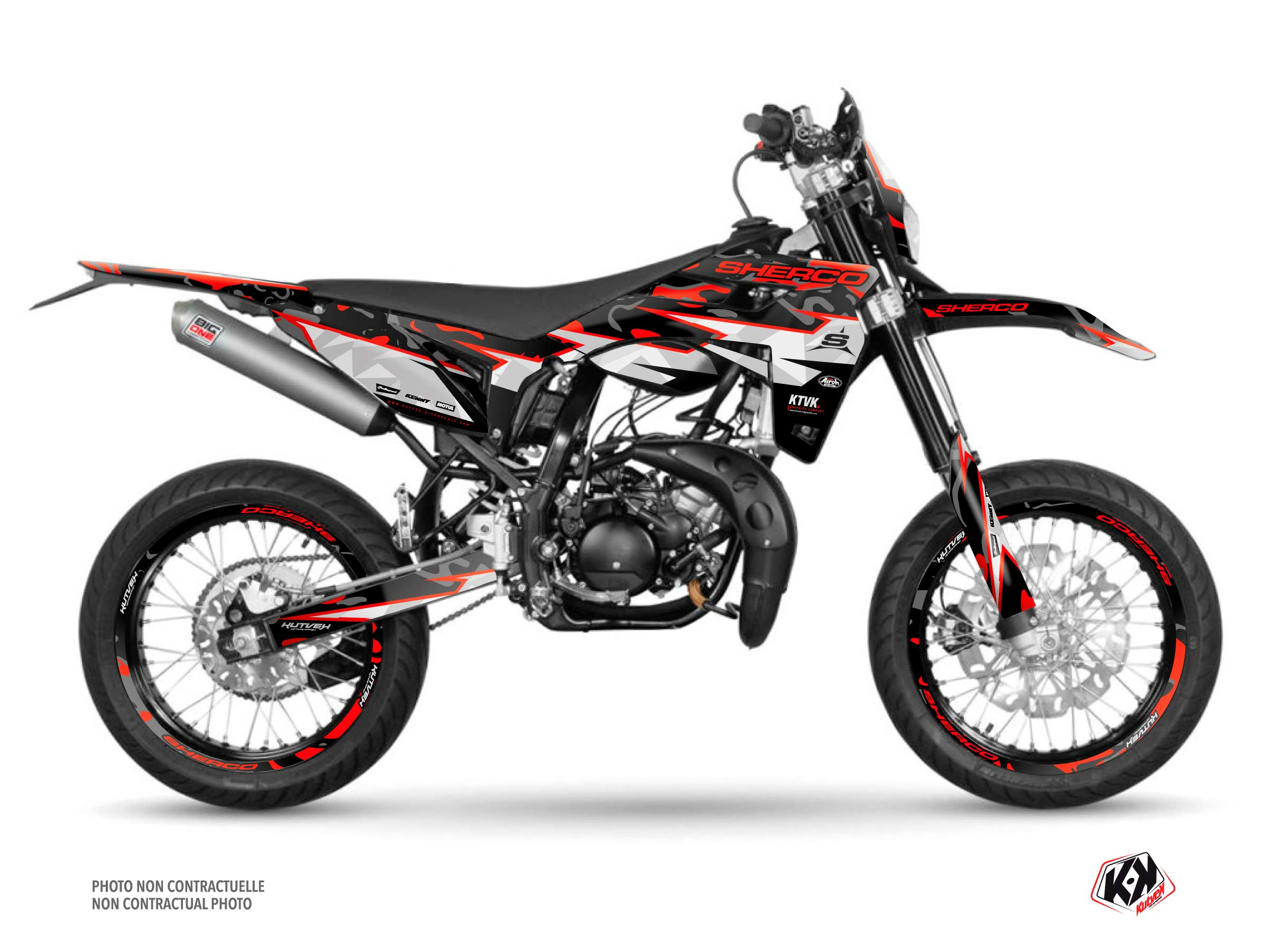 BARBARIAN Graphic Kit Sherco SM 50 Red